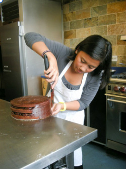 Ivorie Acosta in the Institute of Culinary Education in New York City