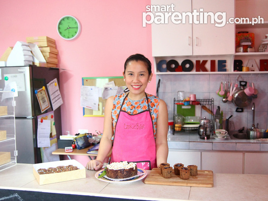 Ivorie Acosta in Cookie Bar's Kitchen. Photo from www.SmartParenting.com.ph (Read article HERE)